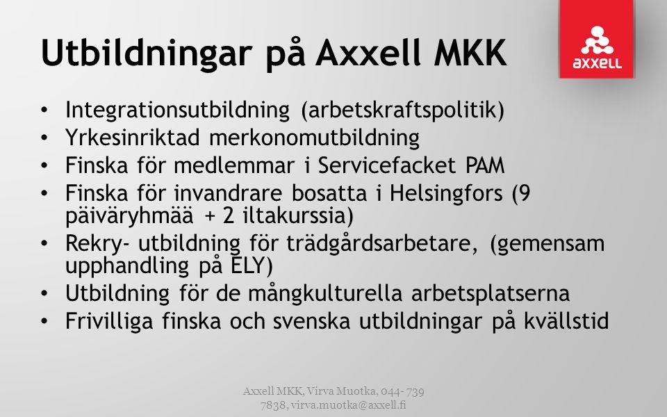 Utbildningar på Axxell MKK