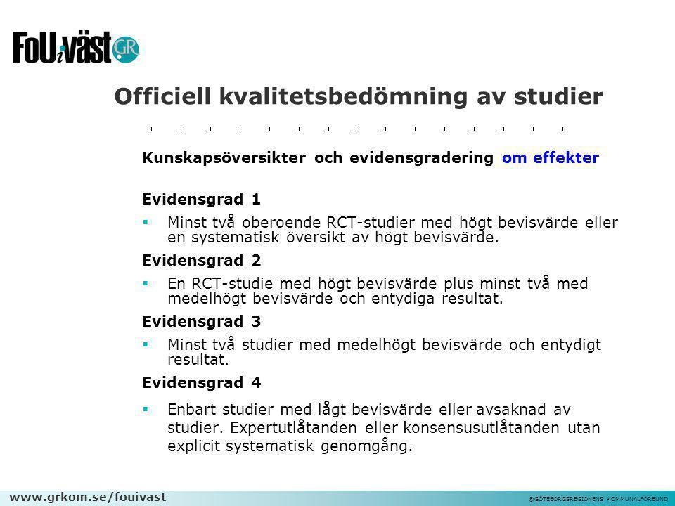 Officiell kvalitetsbedömning av studier