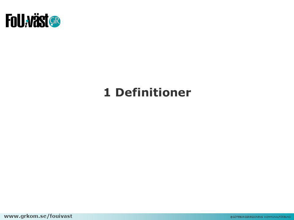 1 Definitioner