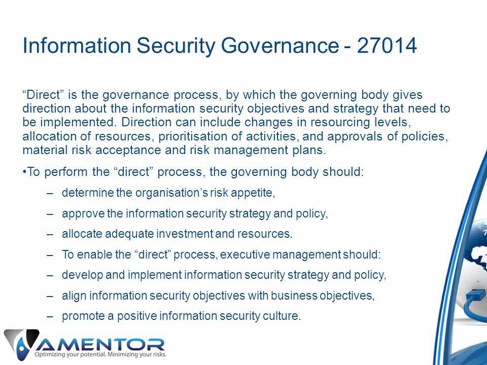 Information Security Governance - 27014