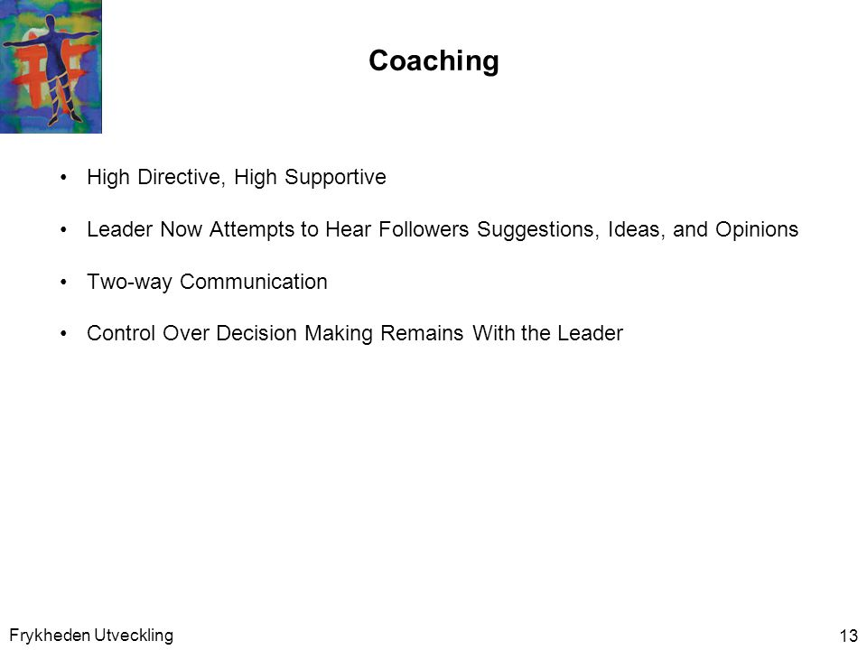 Coaching High Directive, High Supportive