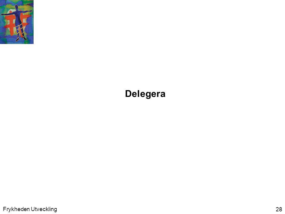 Delegera Frykheden Utveckling