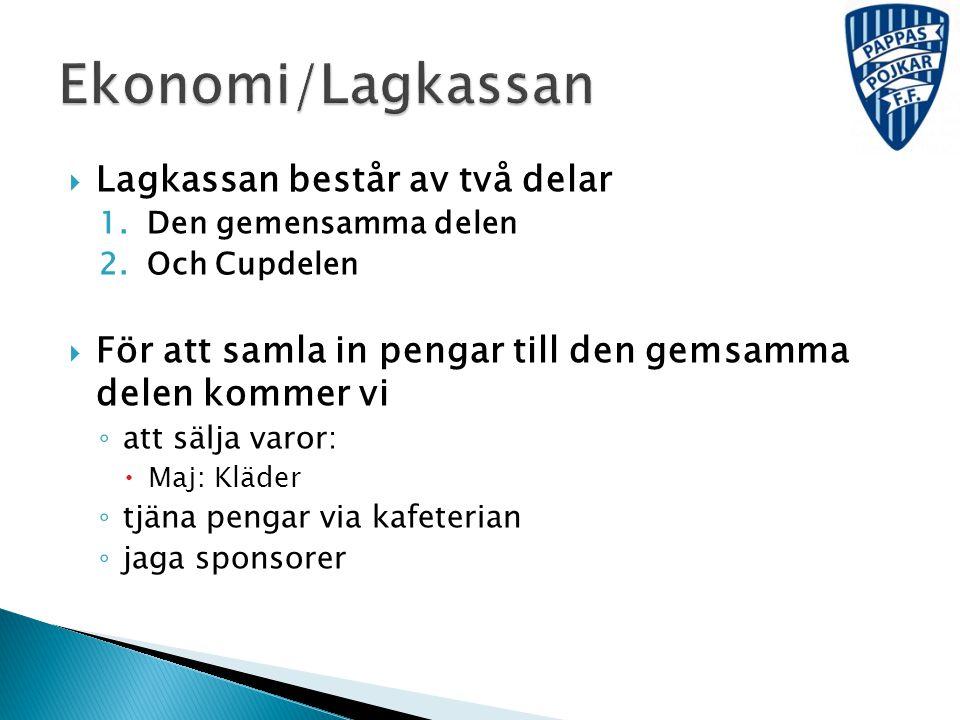 Ekonomi/Lagkassan Lagkassan består av två delar