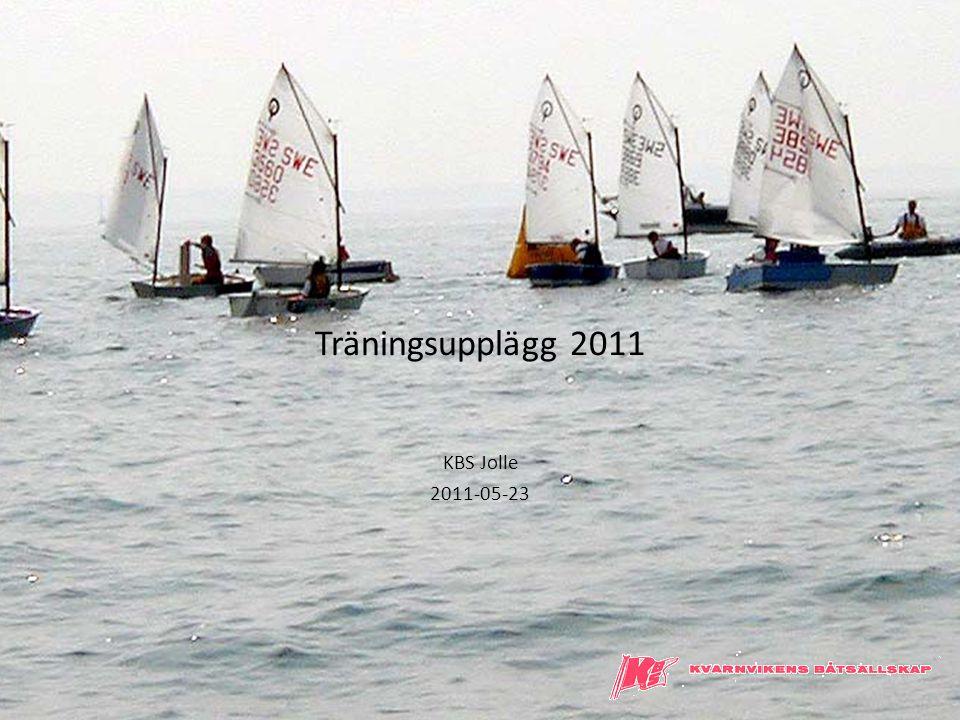 Träningsupplägg 2011 KBS Jolle 2011-05-23