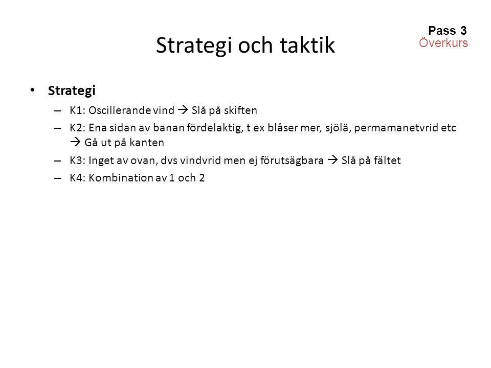 Strategi och taktik Strategi Pass 3 Överkurs