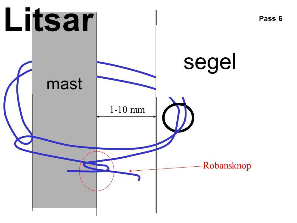Litsar mast Pass 6 segel 1-10 mm Robansknop