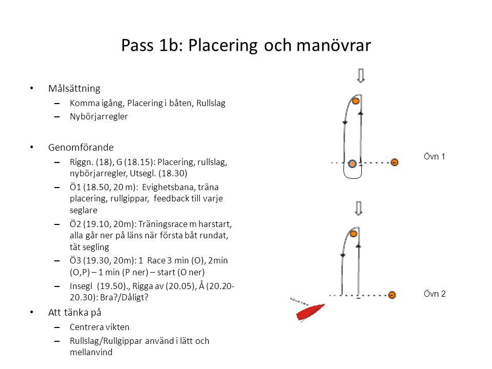 Pass 1b: Placering och manövrar