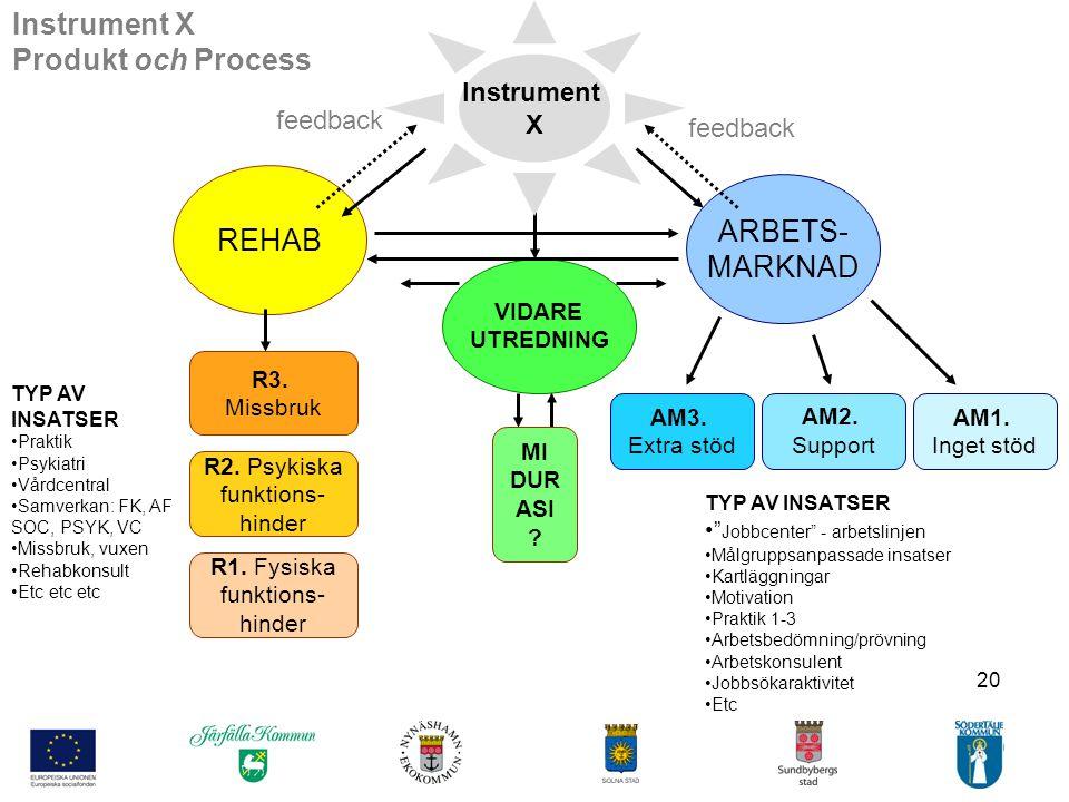 Instrument X Produkt och Process REHAB ARBETS- MARKNAD Instrument X