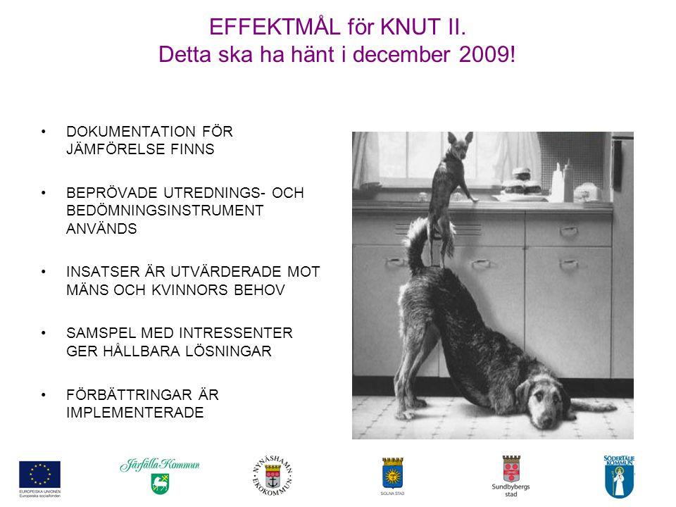 EFFEKTMÅL för KNUT II. Detta ska ha hänt i december 2009!