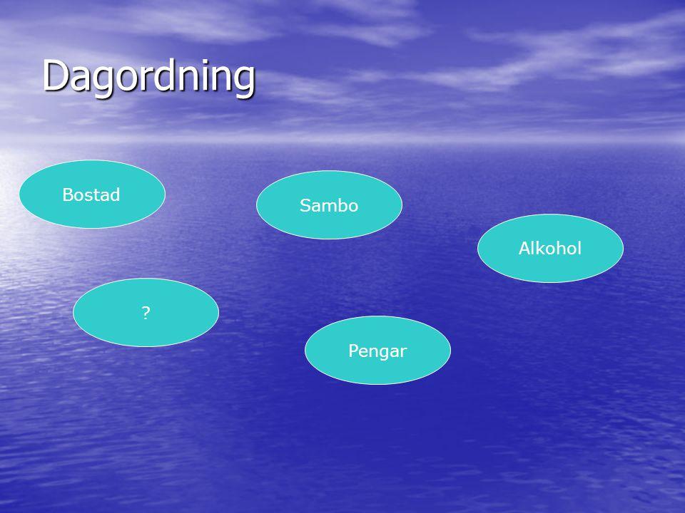 Dagordning Bostad Sambo Alkohol Pengar