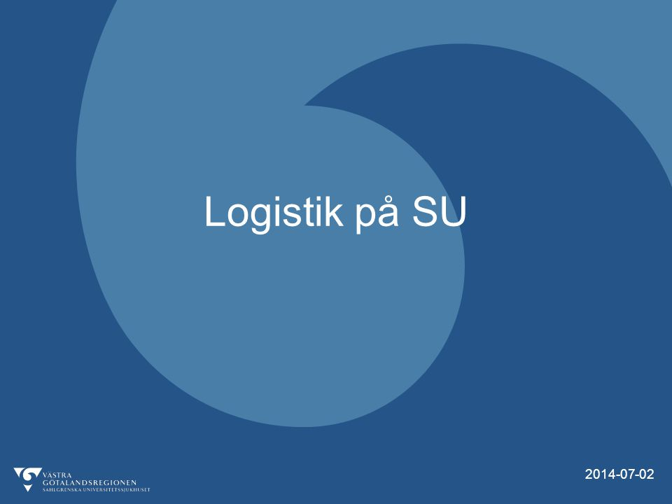 Logistik på SU 2017-04-04