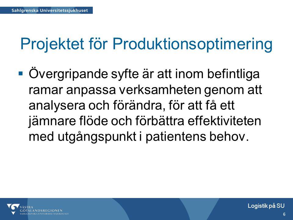 Projektet för Produktionsoptimering