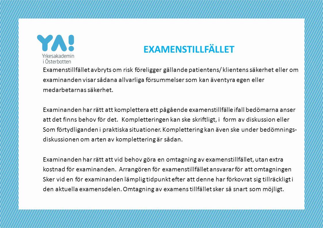 EXAMENSTILLFÄLLET