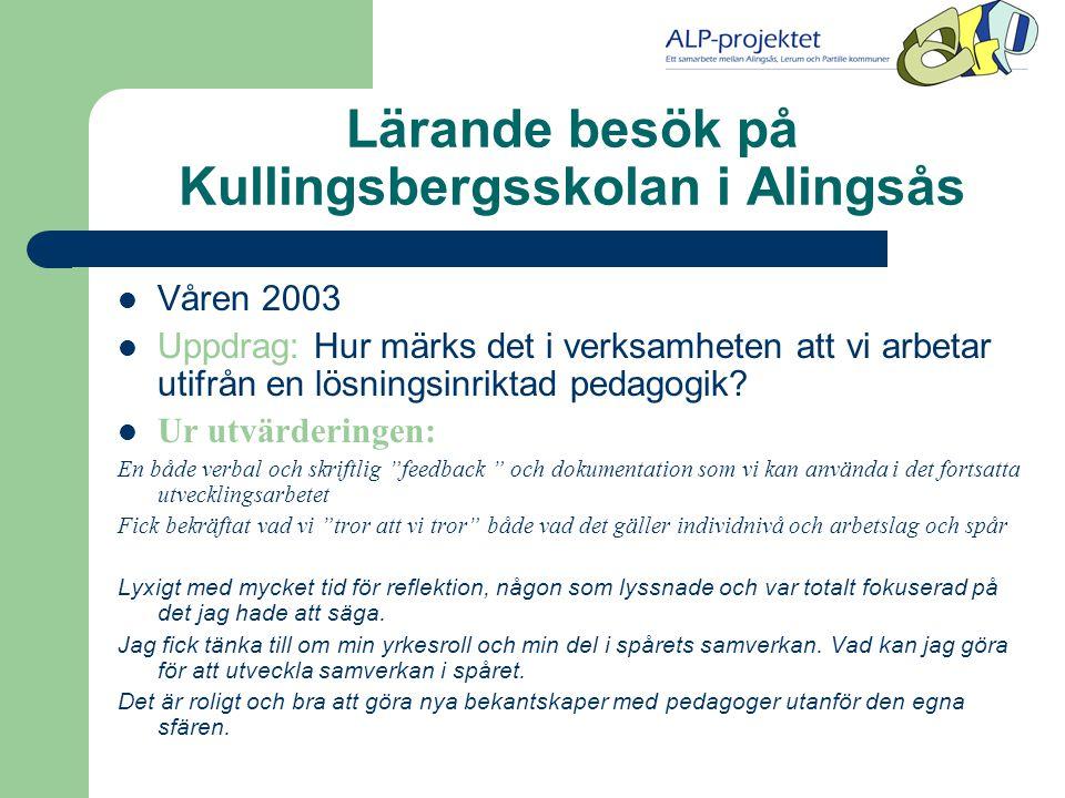 Lärande besök på Kullingsbergsskolan i Alingsås