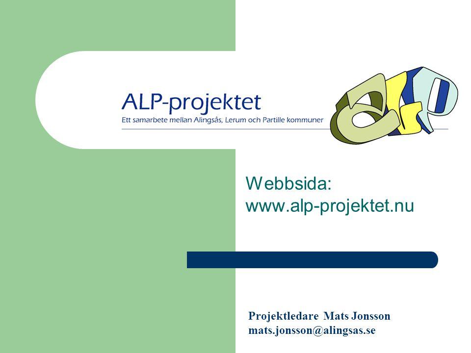 Webbsida: www.alp-projektet.nu