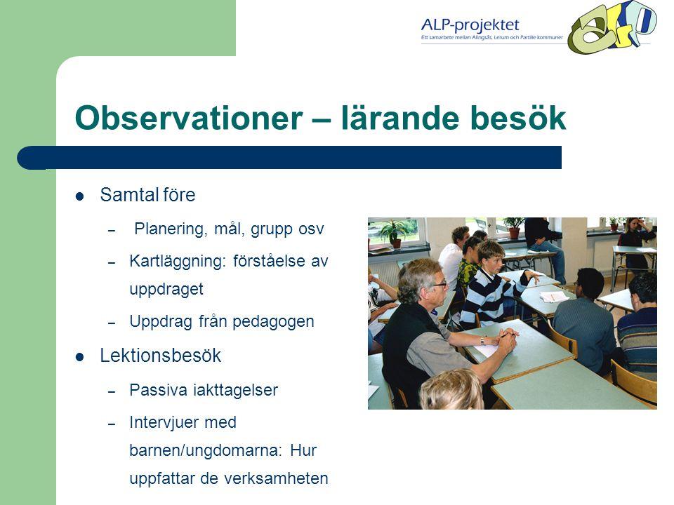 Observationer – lärande besök