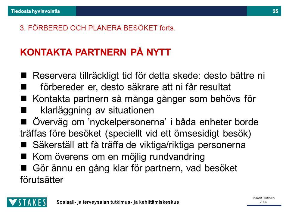 KONTAKTA PARTNERN PÅ NYTT