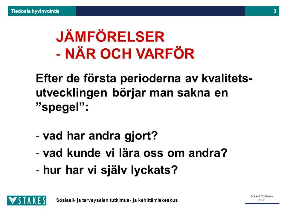 JÄMFÖRELSER NÄR OCH VARFÖR