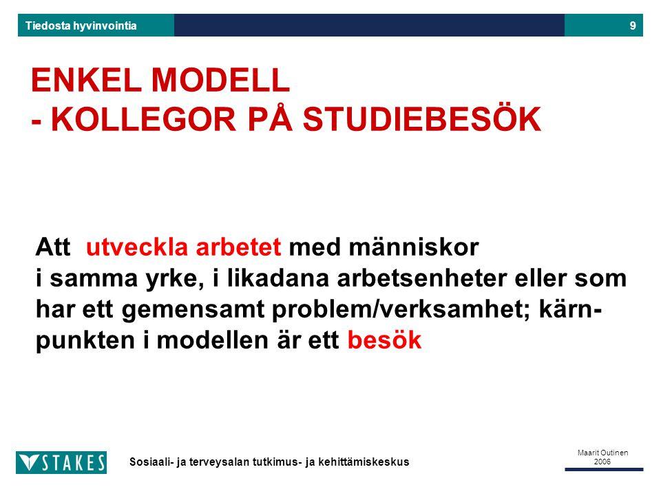 ENKEL MODELL - KOLLEGOR PÅ STUDIEBESÖK