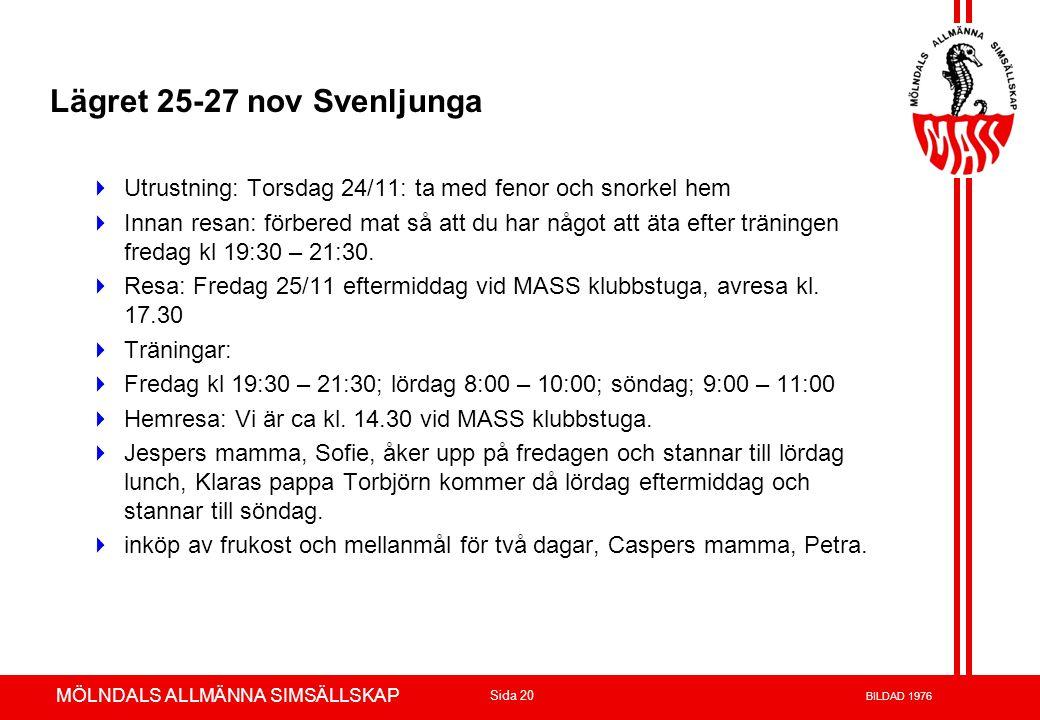 Lägret 25-27 nov Svenljunga