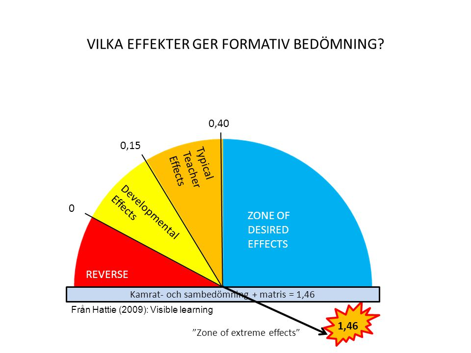 VILKA EFFEKTER ger formativ bedömning