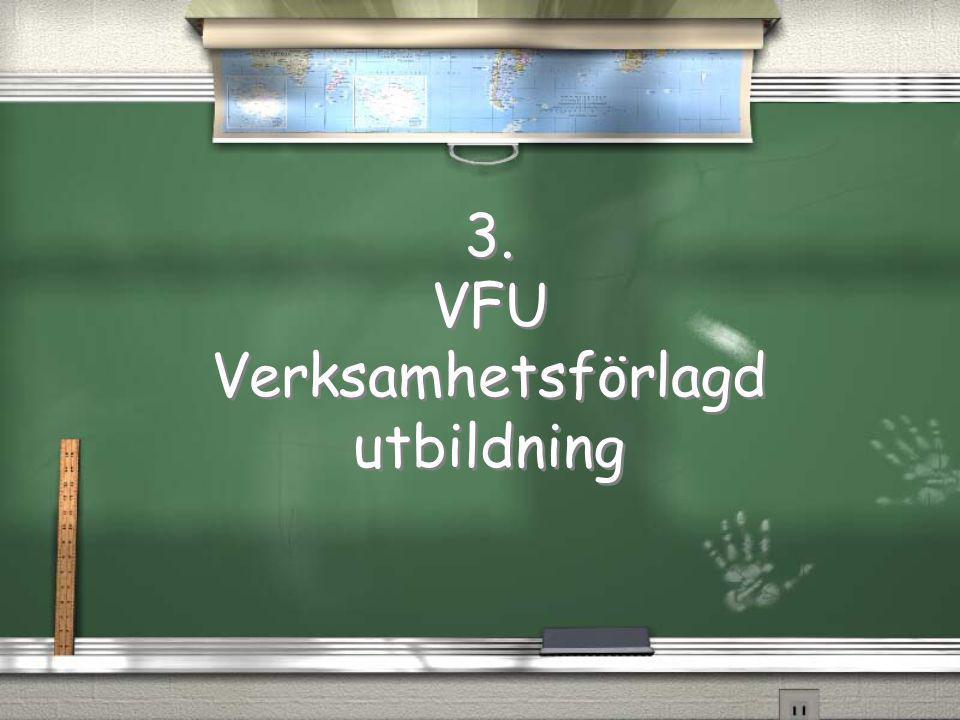 3. VFU Verksamhetsförlagd utbildning