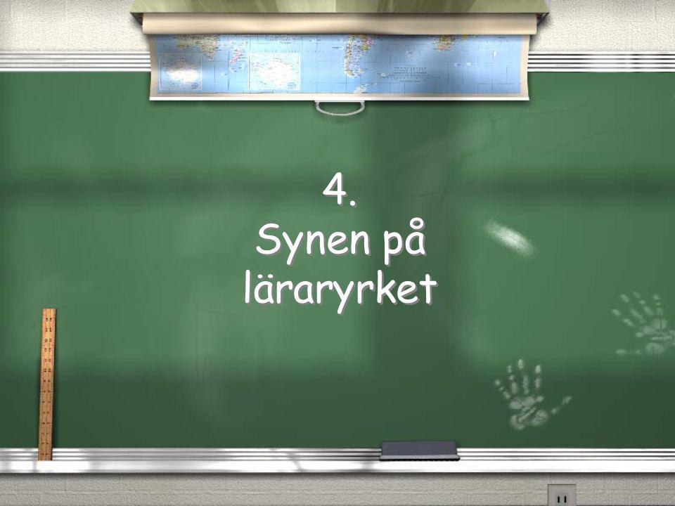 4. Synen på läraryrket