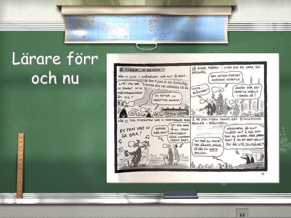 Lärare förr och nu Bildövergångar