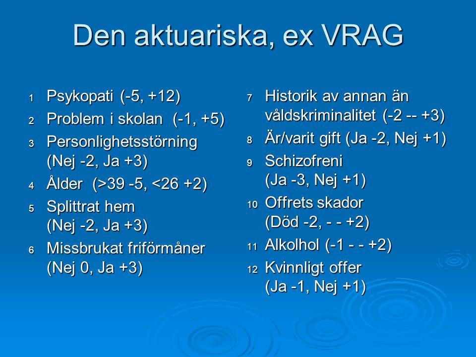 Den aktuariska, ex VRAG 1 Psykopati (-5, +12)