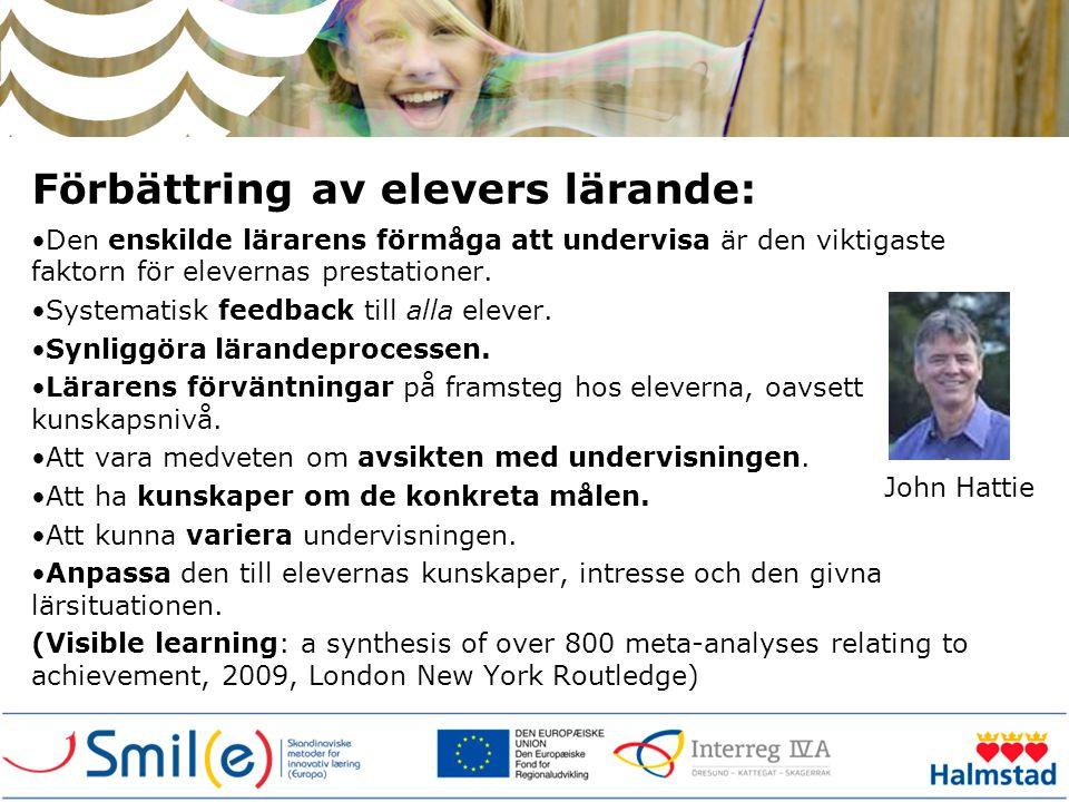 Förbättring av elevers lärande: