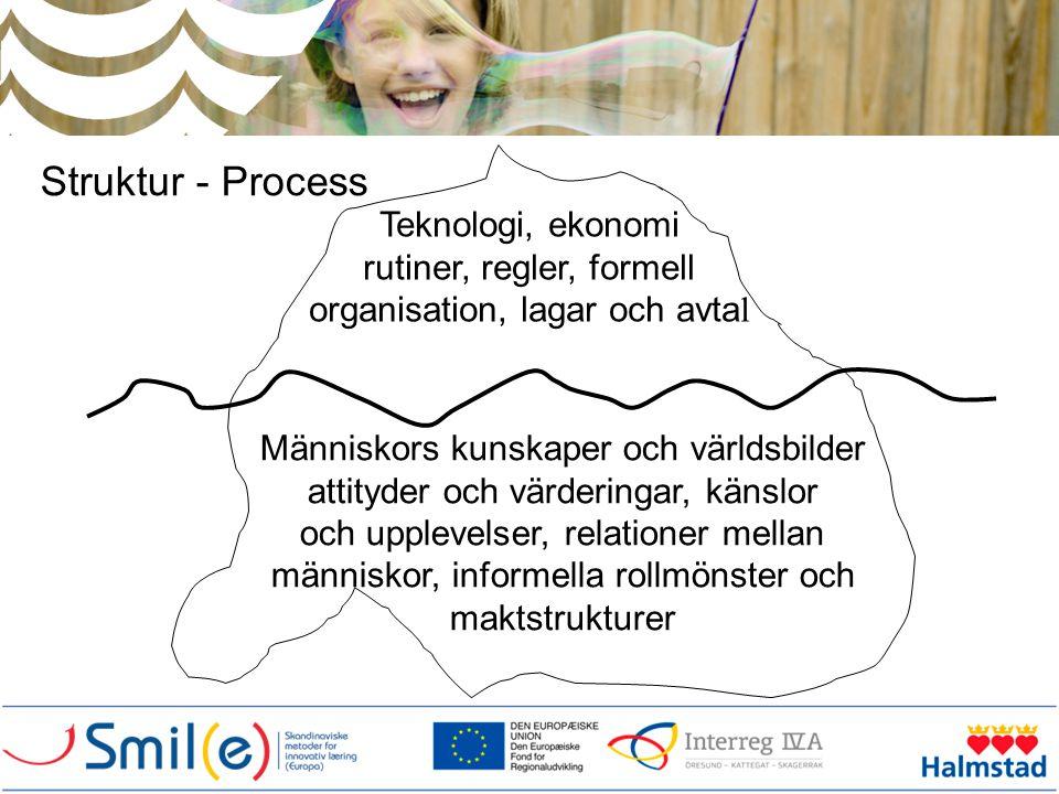 Struktur - Process Teknologi, ekonomi rutiner, regler, formell