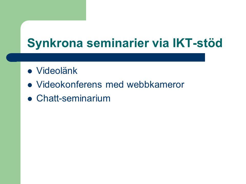 Synkrona seminarier via IKT-stöd