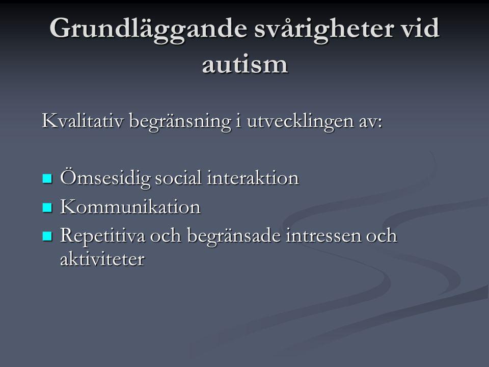 Grundläggande svårigheter vid autism