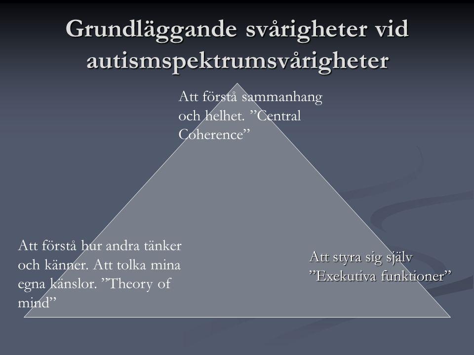 Grundläggande svårigheter vid autismspektrumsvårigheter