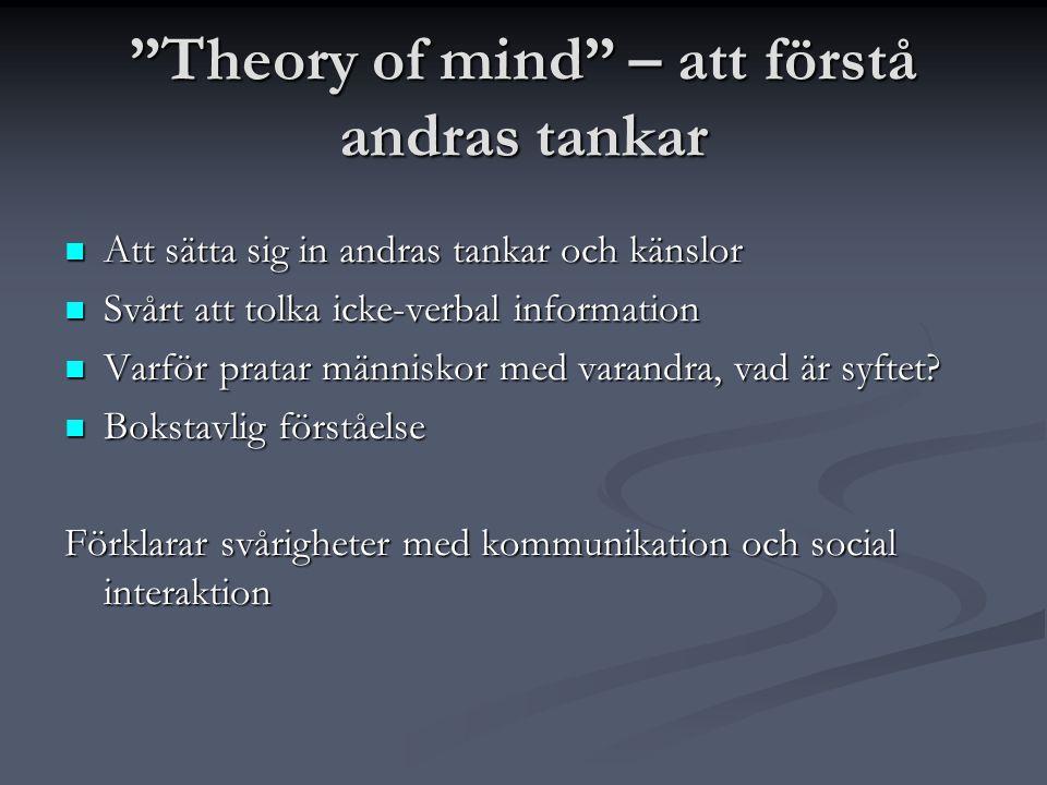 Theory of mind – att förstå andras tankar