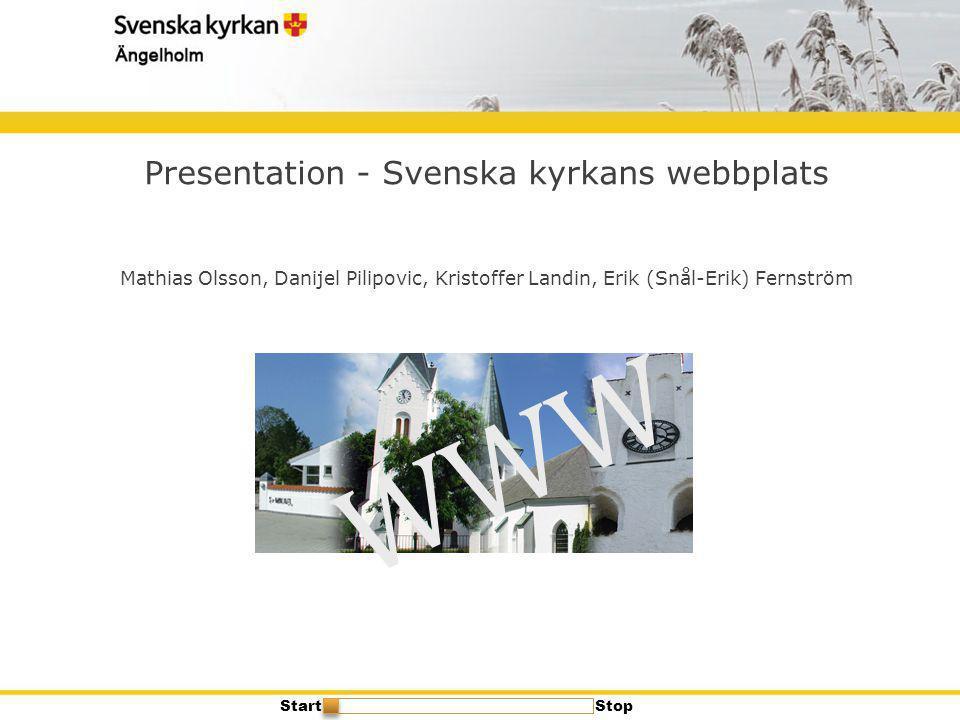 Presentation - Svenska kyrkans webbplats