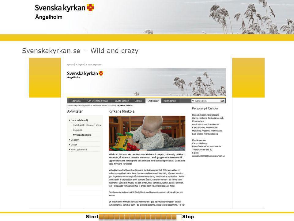 Svenskakyrkan.se – Wild and crazy