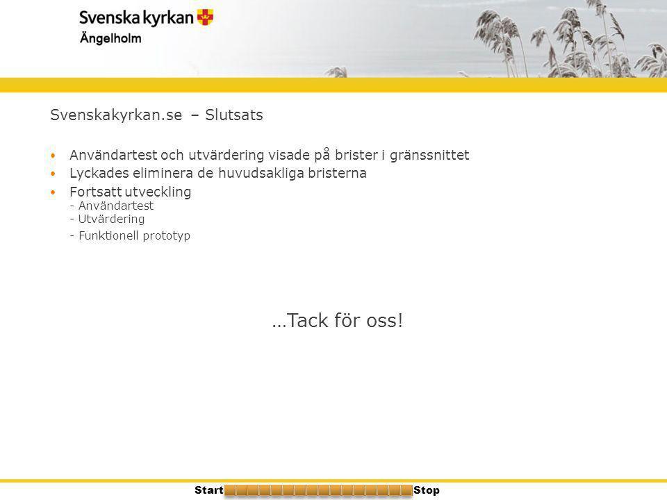 …Tack för oss! Svenskakyrkan.se – Slutsats