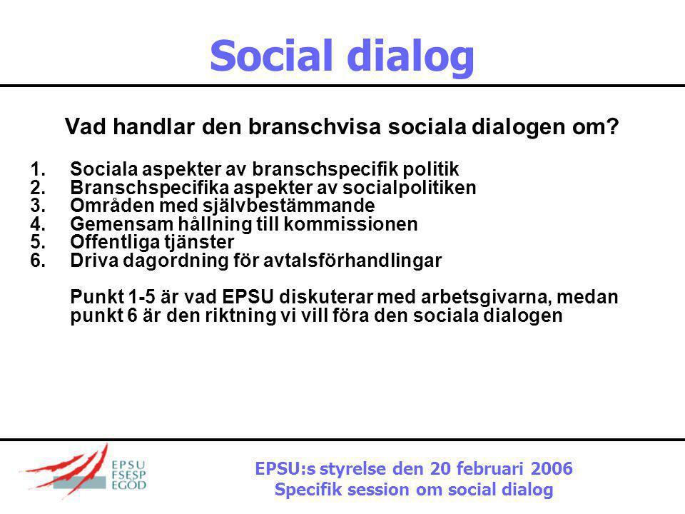 Social dialog Vad handlar den branschvisa sociala dialogen om