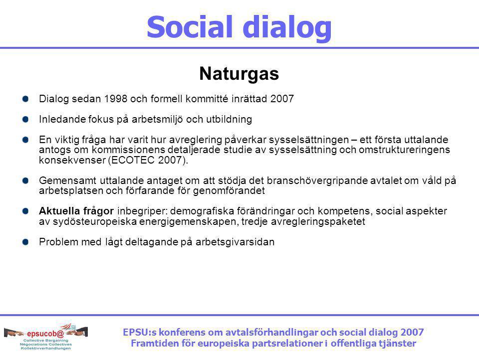 Social dialog Naturgas