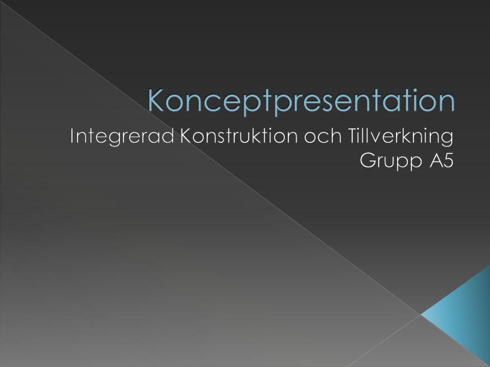 Integrerad Konstruktion och Tillverkning Grupp A5
