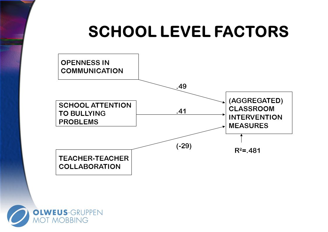SCHOOL LEVEL FACTORS Instruksjoner: