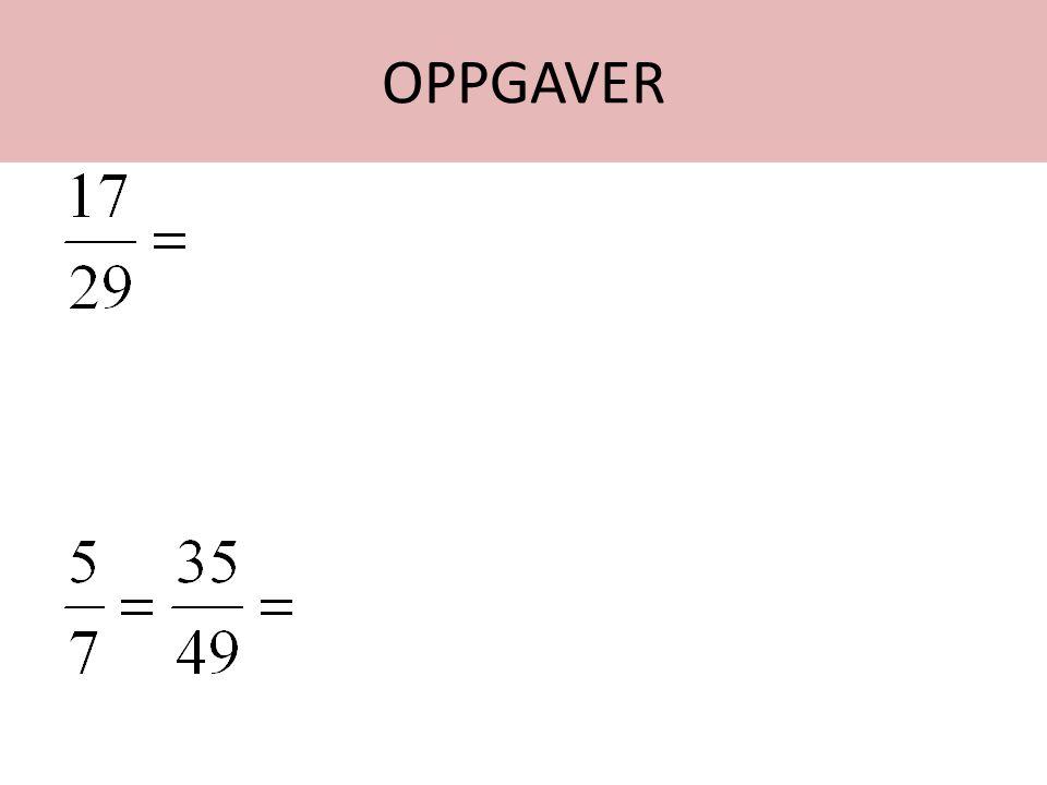 OPPGAVER Starthjelp: 17/29. The one before (9) er 2. og one more er 3. Man siger EKHADIKAN er 3. Vi må alltså gå by 3 .