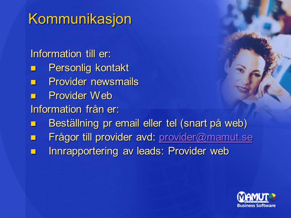 Kommunikasjon Information till er: Personlig kontakt
