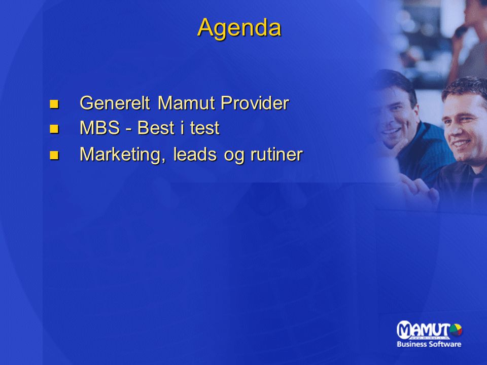 Agenda Generelt Mamut Provider MBS - Best i test