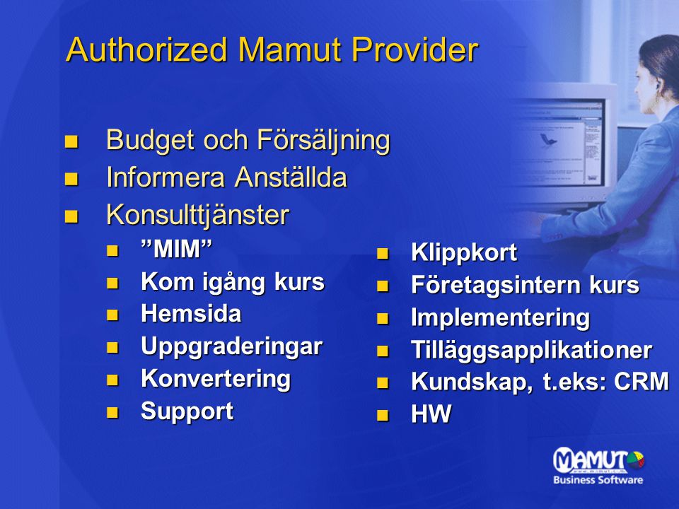 Authorized Mamut Provider