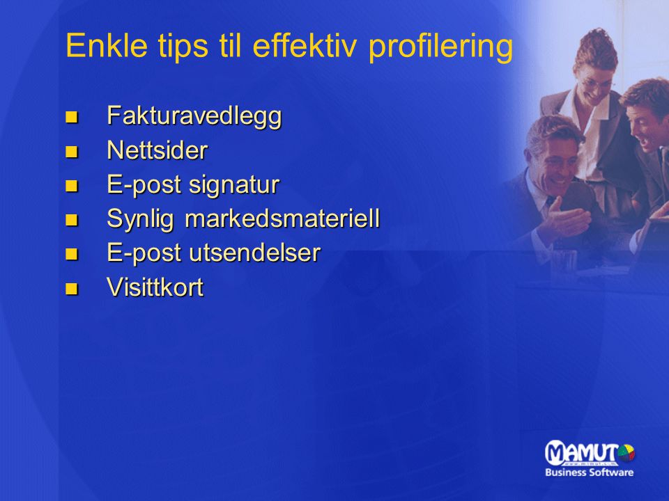 Enkle tips til effektiv profilering