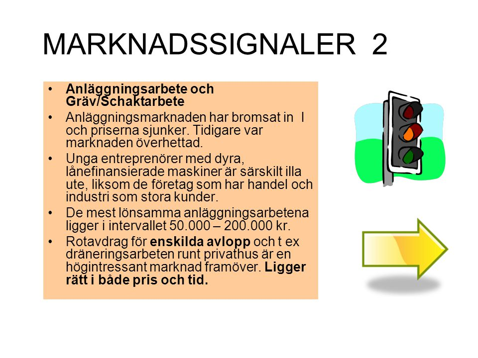 MARKNADSSIGNALER 2 Anläggningsarbete och Gräv/Schaktarbete
