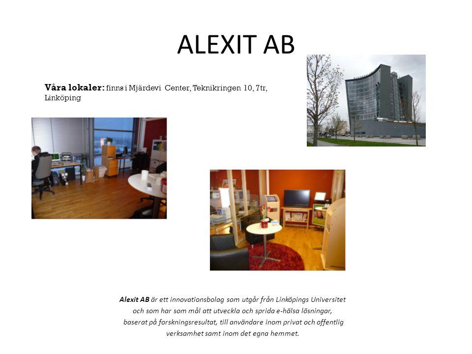 ALEXIT AB Våra lokaler: finns i Mjärdevi Center, Teknikringen 10, 7tr, Linköping.