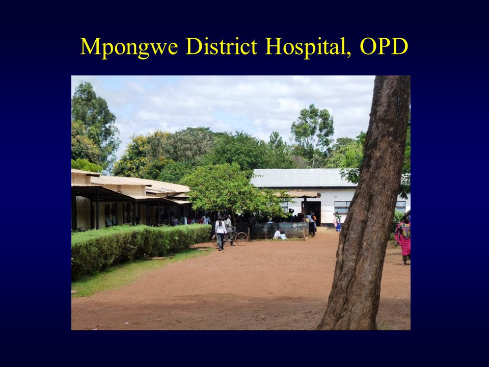 Mpongwe District Hospital, OPD